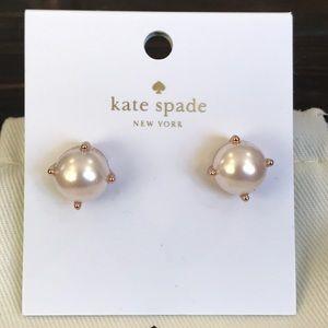 {kate spade} Pearl/Rose Gold Stud Earrings